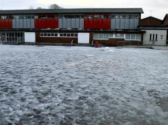 Icy playground